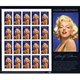 Marilyn Monroe Legends Of Hollywood Full Sheet 20 X 32 Cent Postage