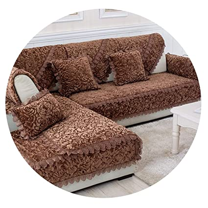 Amazon.com: Rose Floral Quilted Plush Sofa Cover Sofa Chair ...
