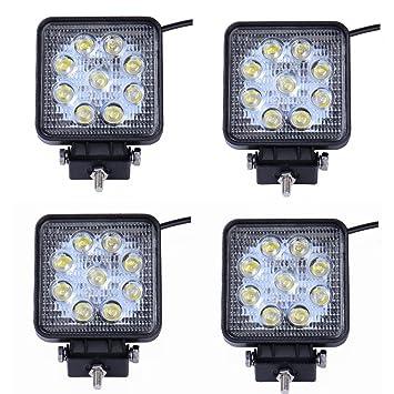 MCTECH 4 X 27W Quadrat LED Offroad Flutlicht Reflektor Scheinwerfer Arbeitslicht SUV, UTV, ATV Arbeitsscheinwerfer Zusatzsche