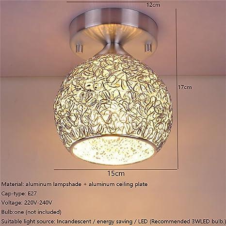 FANDBO @ LED E27 simple cabecero de aluminio lámpara de ...