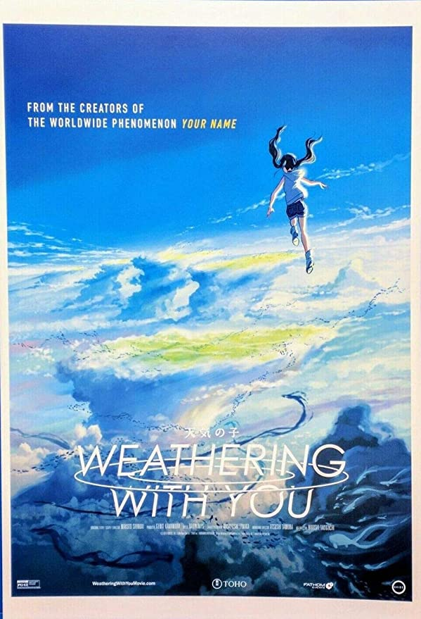 Weathering With You 8 5 X12 5 Original Promo Movie Poster Anime At Amazon S Entertainment Collectibles Store