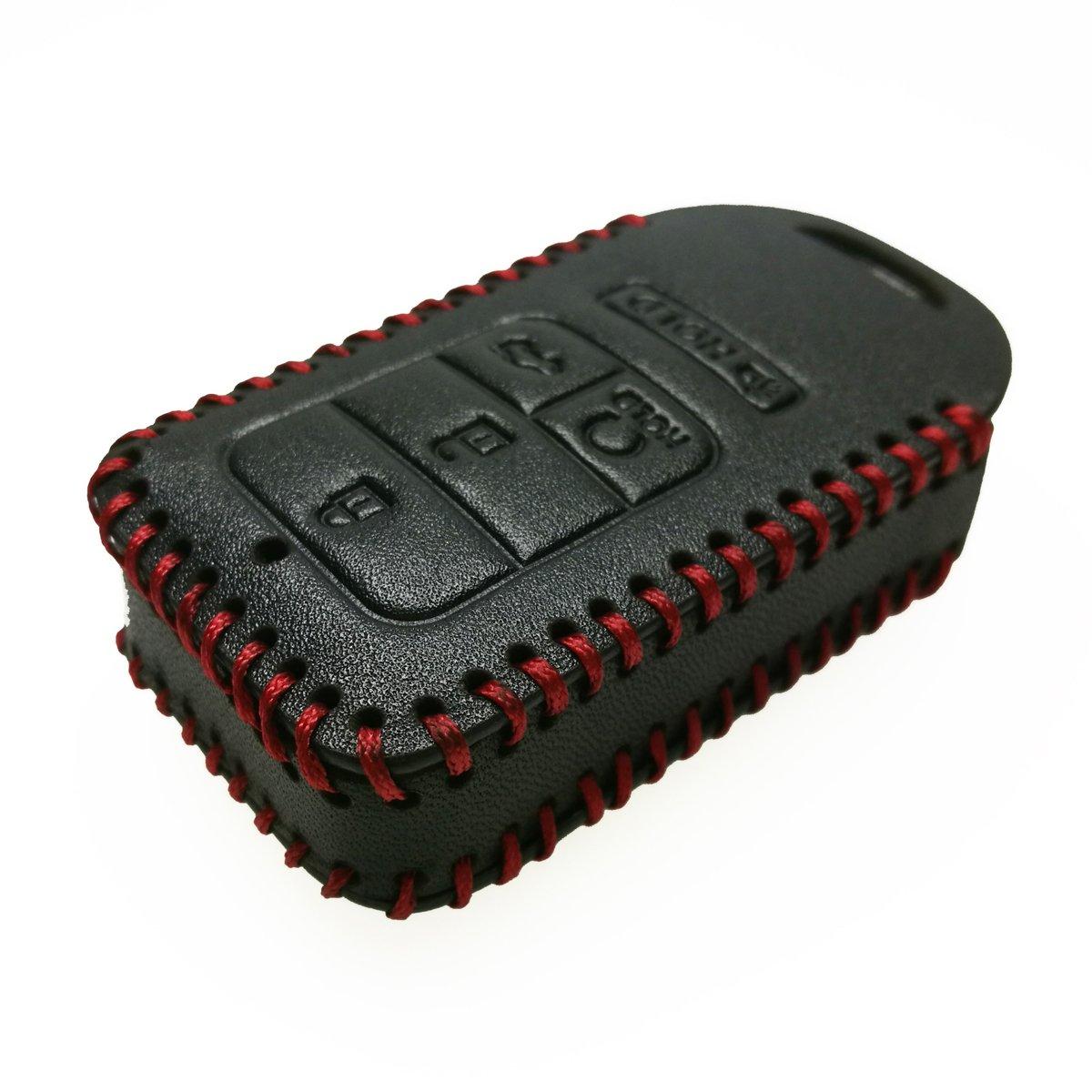 Coolbestda Latest Leather Key Fob Remote Cover Case Protector Skin Keyless Jacket Holder for A2C81642600 2018 2017 2016 2015 Honda Accord Civic CR-V CRV Pilot EX EX-L Touring Premium