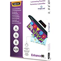 Fellowes Fellowes A4 80 Micron Laminating Pouches 100 Pack, (25205)