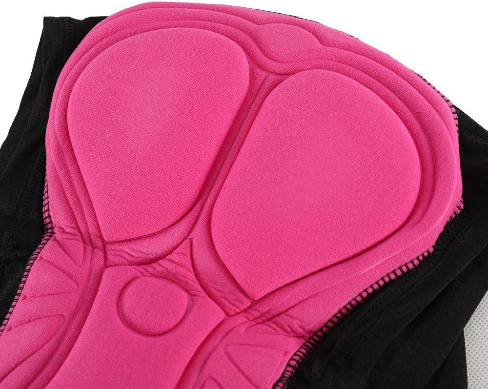 Lixada Pantalones Cortos Ciclismo Mujer Gel 3D Acolchado Ropa Interior para Ciclismo Deporte al Aire Libre