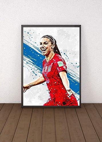 Poster Football Gift Wall Art Print Home Decor Alex Morgan