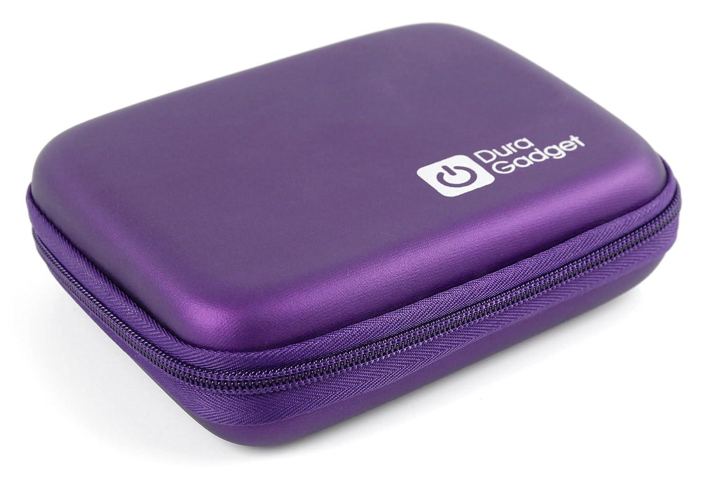 DURAGADGET Fantástica Funda Rígida Morada para Impresora fotográfica portátil HP Sprocket | Polaroid Zip - con Mini Mosquetón