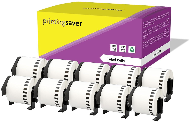 10 Compatible Rolls Brother DK22205 DK-22205 62mm x 30.48m Continuous Address Labels for Brother P-Touch QL-500 QL-550 QL-560 QL-570 QL-580N QL-650TD QL-700 QL-720NW QL-1050 QL-1060N