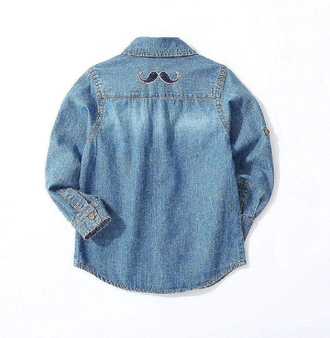 Lutratocro Boys Girl Top Denim Jean Button Down Cute Shirt