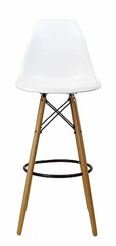 Design Tree Home Charles Eames Style DSW Bar Stool – White