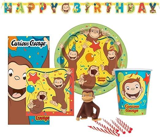 Amazon.com: Curious George Fiesta de cumpleaños set ...
