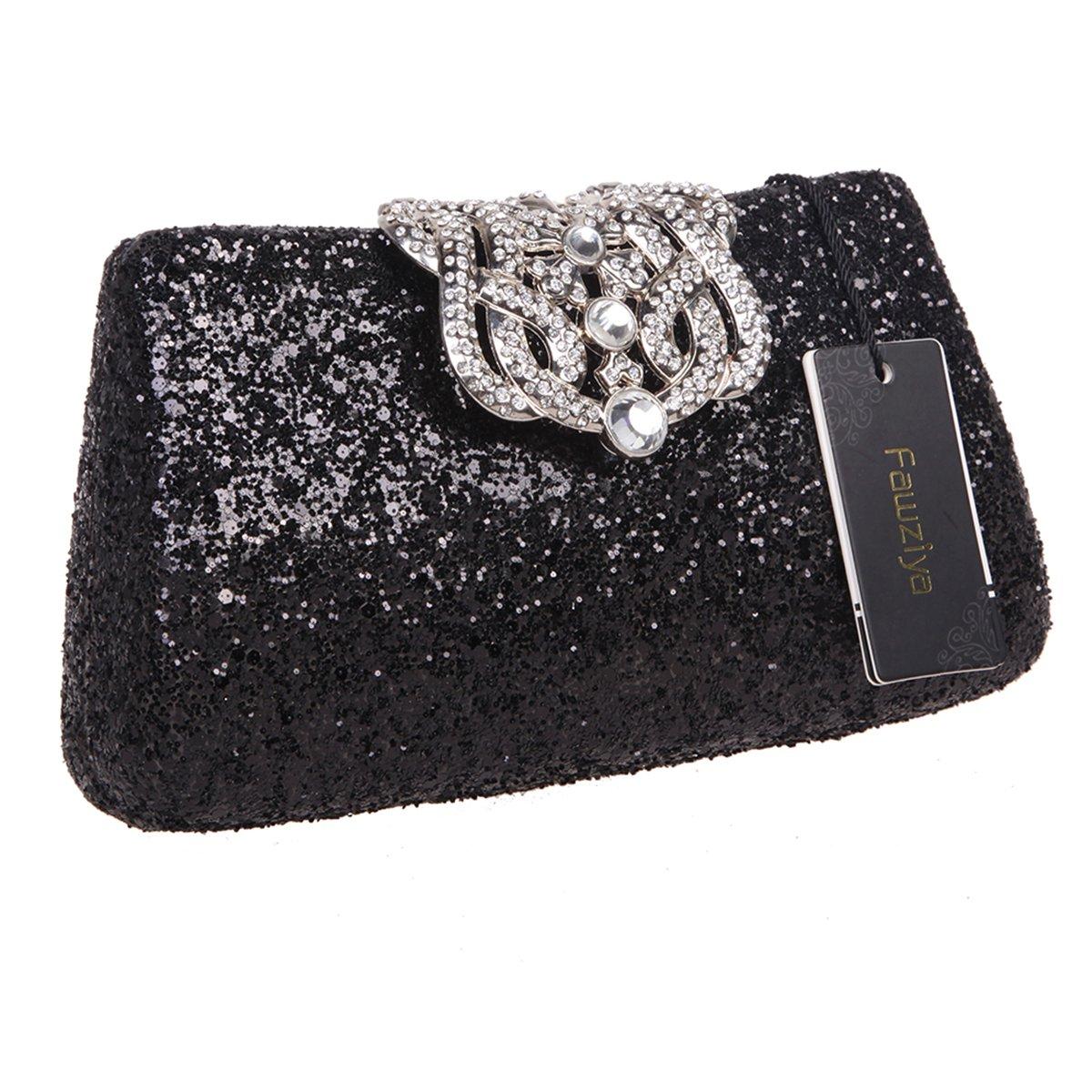 Fawziya Crown Glitter Clutches And Evening Bags Bling Clutch Purses For  Women-Black  Amazon.ca  Shoes   Handbags 1180c553386e
