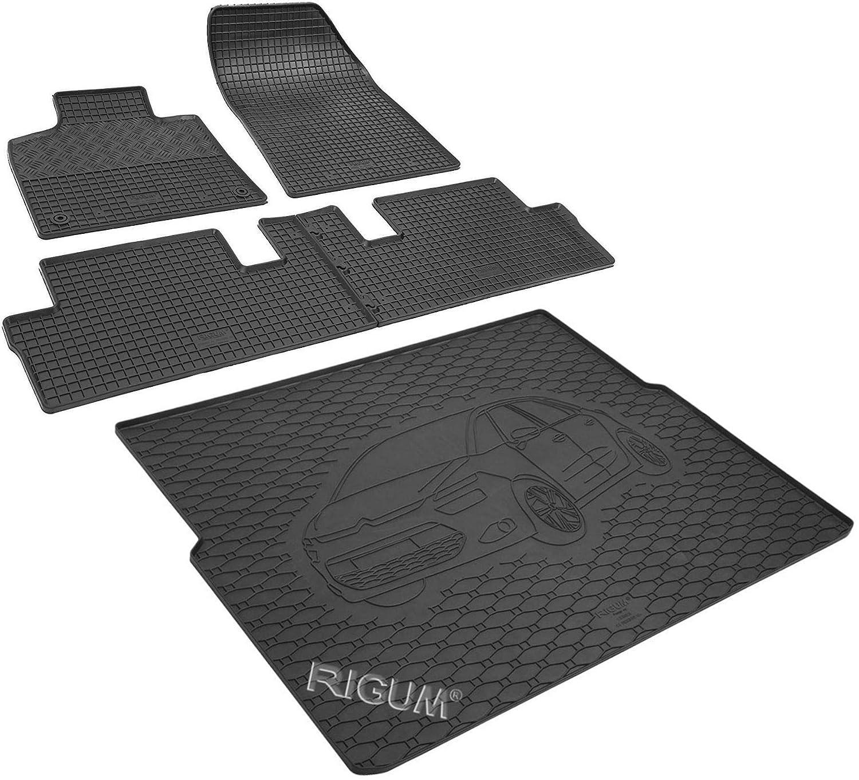 color negro Juego de alfombrillas para coche y protector de maletero de goma 900460-7B-804041