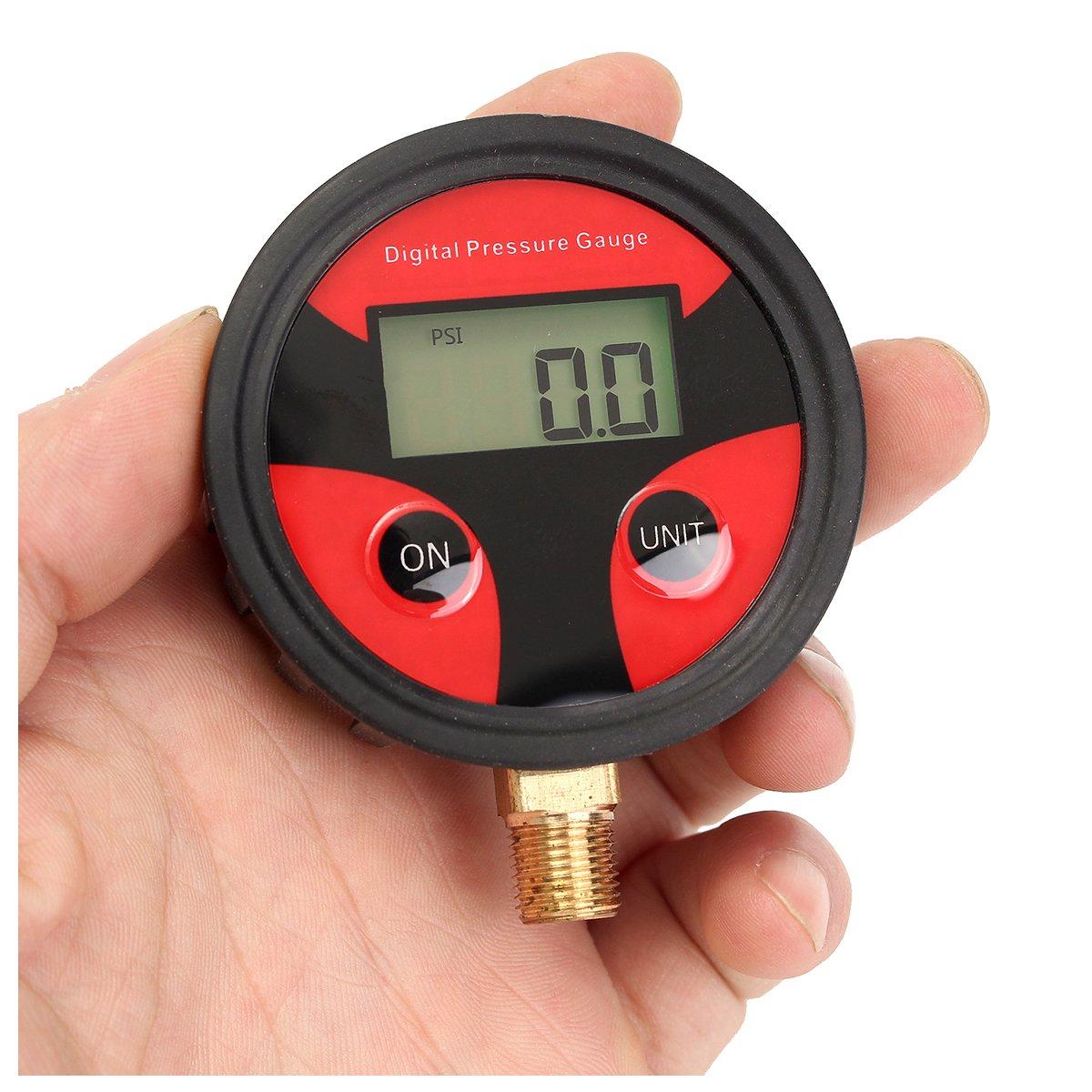 Cikuso 0-200psi Car Truck Bike Auto Auto Pneumatico Pneumatico Air Pressure Gauge Dial Meter Tester