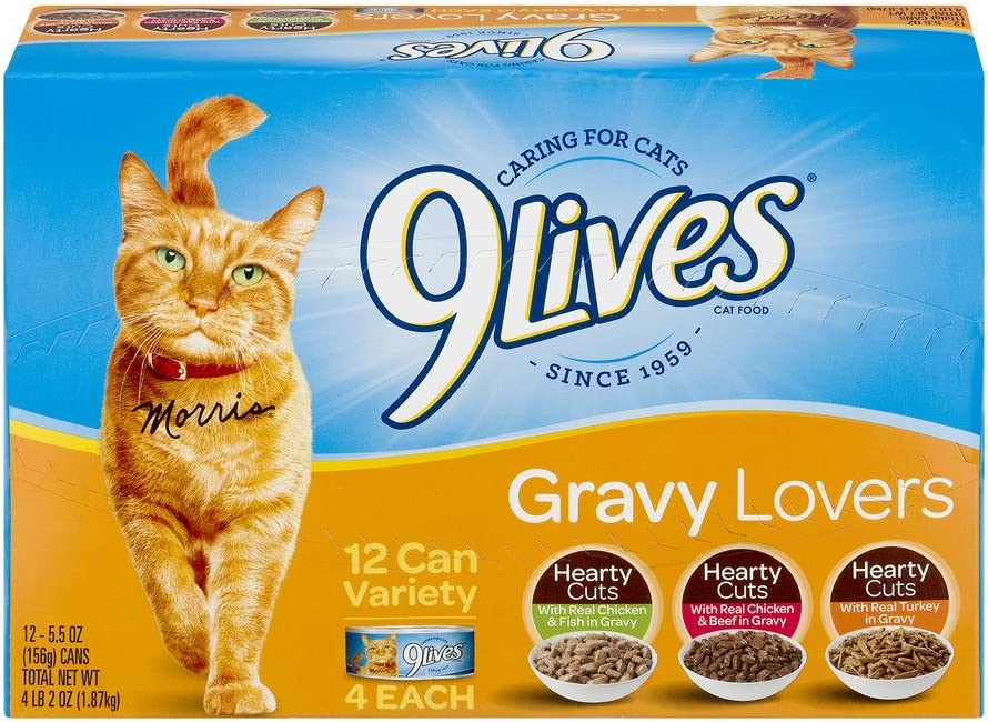 9Lives Variety Gravy Favorites - Wet Cat Food (Gravy Favorites Variety Pack, 2 Pack of 12)