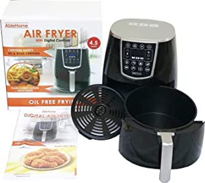 4.5 Qt Electric Air Fryer 1350W with Digital Timer Tempe Control 8 Presets