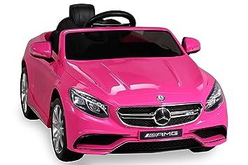 S 63 Color Rosa Niños coche infantil elektroauto infantil Vehículo ...