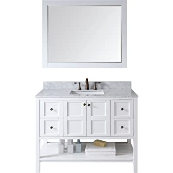 Awesome Bathroom Modern Ideas Photos Small 48 White Bathroom Vanity Cabinet Flat Natural Stone Bathroom Tiles Uk Hansgrohe Bathroom Accessories Singapore Youthful Cheap Bathtub Brisbane YellowBathroom Stall Doors Dimensions Virtu ES 30048 WMSQ WH Winterfell Single Bathroom Vanity Cabinet ..