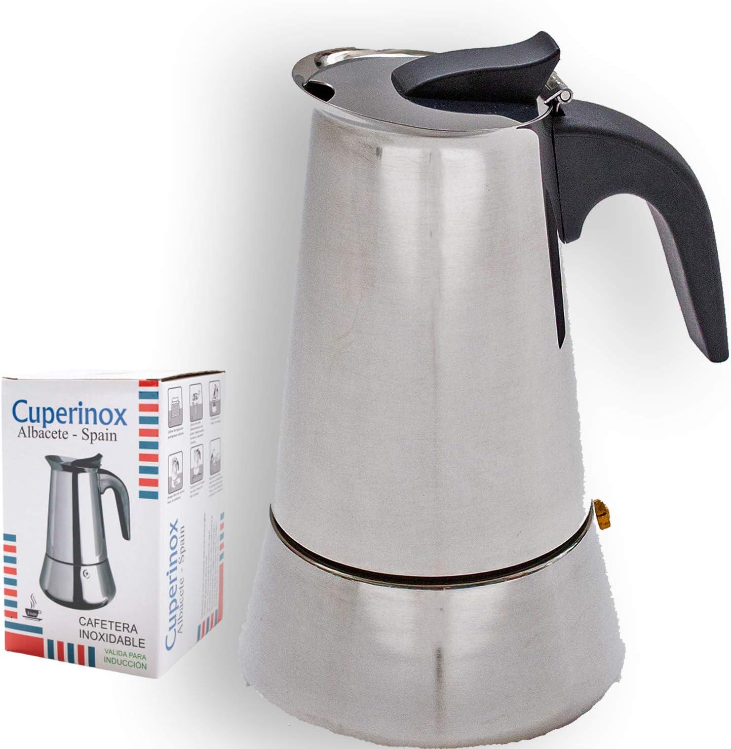 CUPERINOX Cafetera italiana inducción | 12 tazas | cafetera ...
