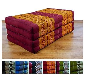 Colchón plegable con 100% natural relleno de ceiba, cojín de cama de día, plegable, para relajación: Amazon.es: Hogar