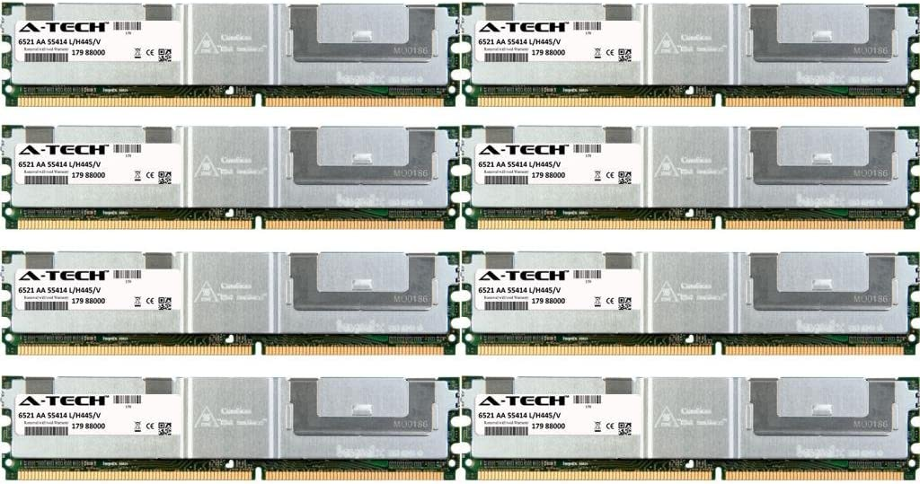 32GB KIT (8 x 4GB) for Dell PowerEdge Series 1900 1950 1950 III 1955 2900 2900 III 2950 2950 III M600 R900. DIMM DDR2 ECC Fully Buffered PC2-4200F 533MHz Server Ram Memory. Genuine A-Tech Brand.