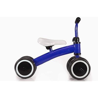 Kool KiDz Mini Bike Kids Trike Learn Motor Skills Balance Bike 19inch Toddler Tricycle for Kids 1-3 Years Old (Dark Blue): Sports & Outdoors