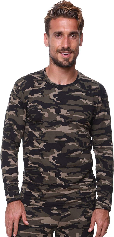 Men's Thermal Top Lightweight Ultra Soft Fleece Underwear,Base Layer, Very Warm, Excellent Wicking (XLarge, Camouflage)