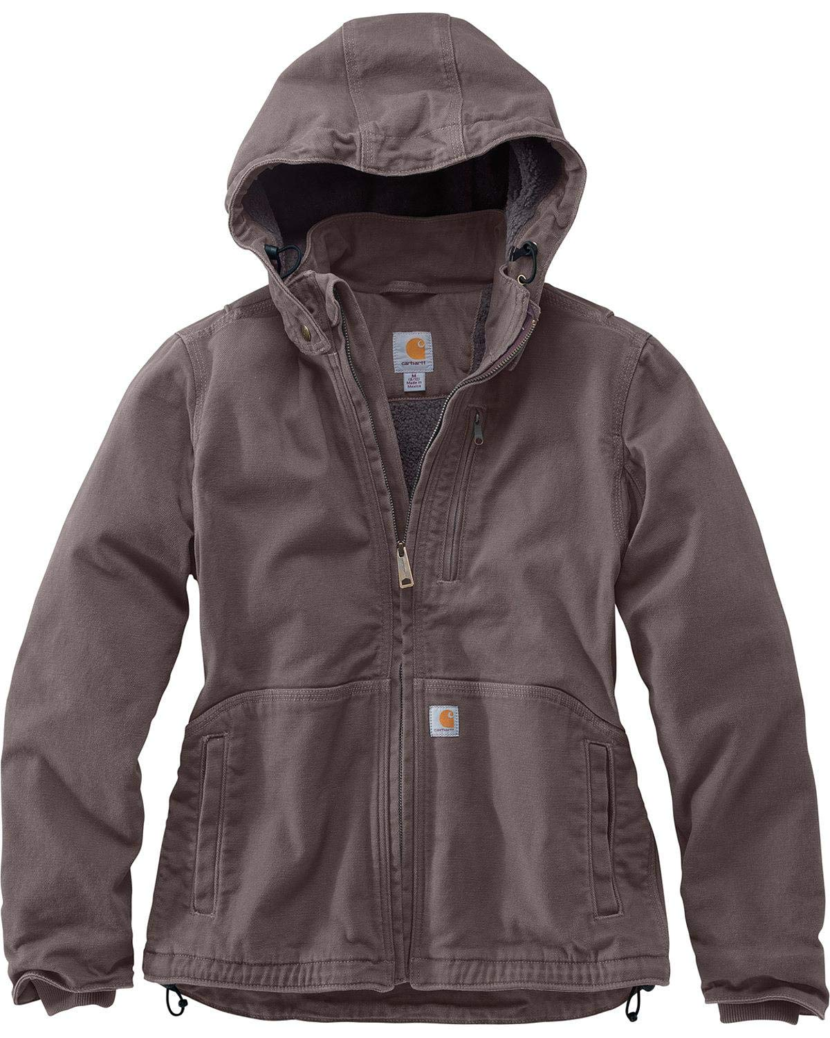 Carhartt Women's Full Swing Caldwell Jacket (Regular and Plus Sizes), Taupe Gray/Shadow, Medium by Carhartt