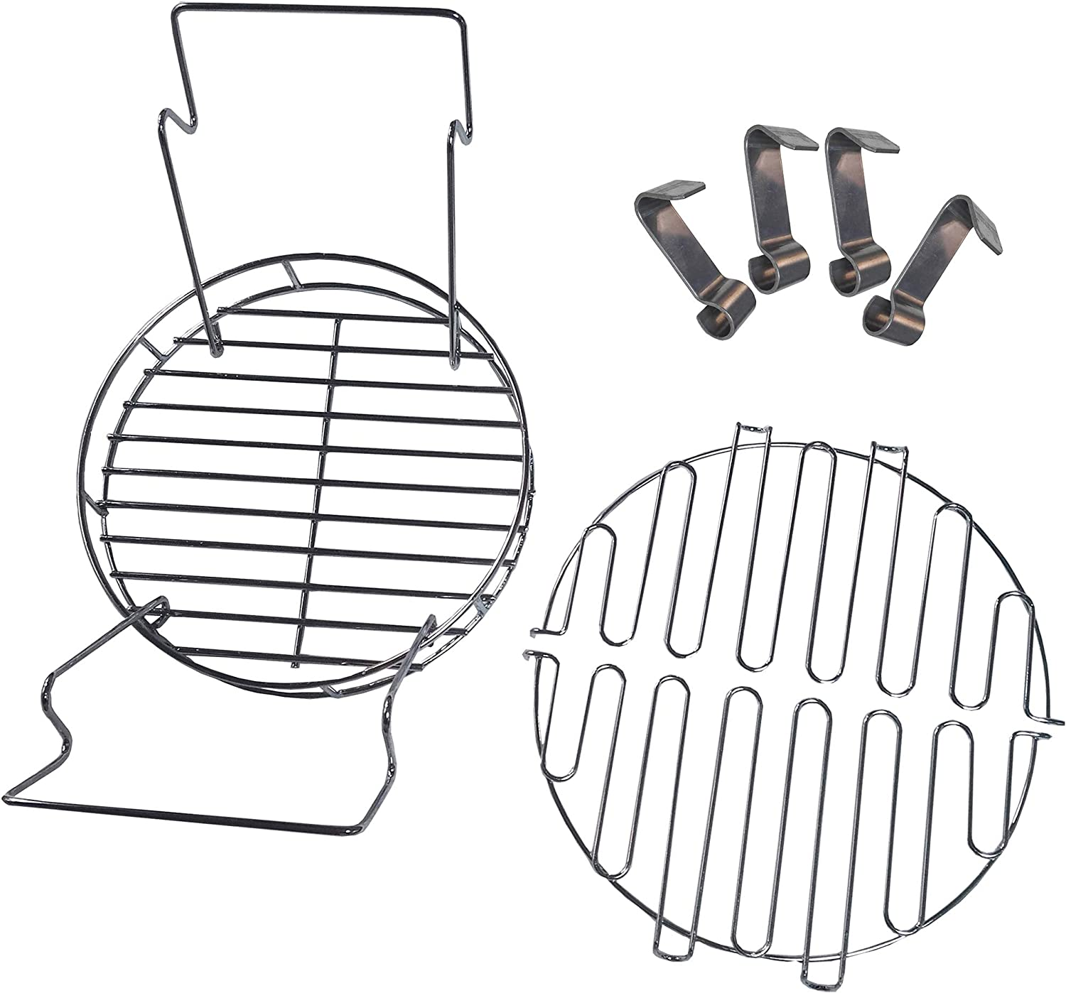 Leg Rack,Rib Hooks soldbbq A Must Have Accessory Kit for Owner of The Char-Broil of The Big Easy,Includes Bunk Bed Basket
