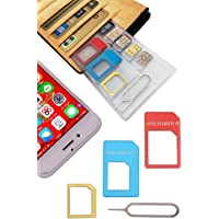 SilverCoral SIM Holder Card case, Loss PREVENTING, Thiner Than Credit Cards, Made in Japan/Fill The Gap/Nano Micro SD…