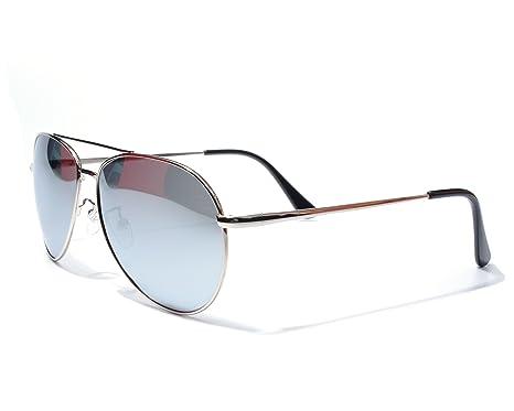 Jee lunettes de soleil homme femme aviator polaris¨¦es metal 8064(argent) cM4zzbSvTd