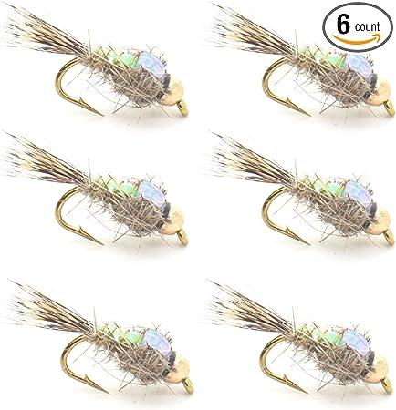 Goldhead Corixa trout flies size 12 by Salmoflies Fishing Flies