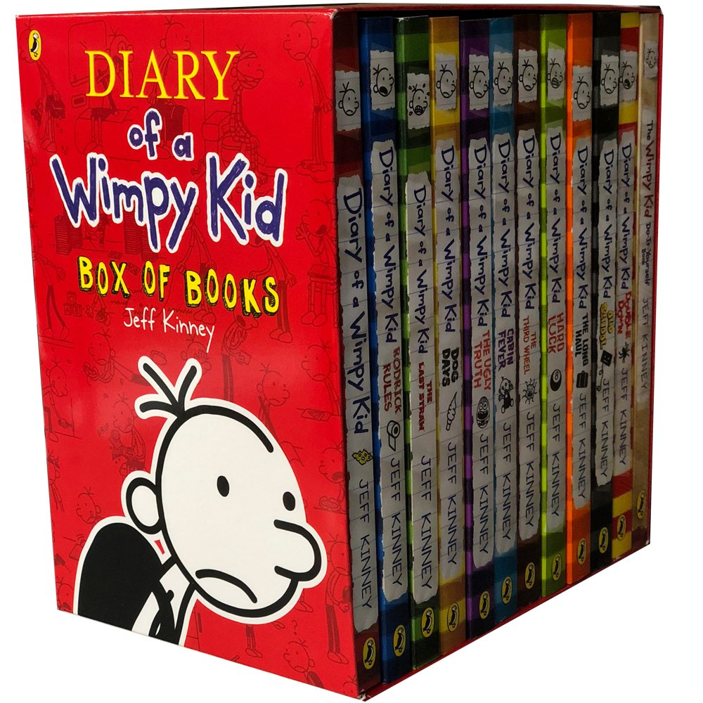 Diary of a Wimpy Kid 12 Books Complete Collection Set Box
