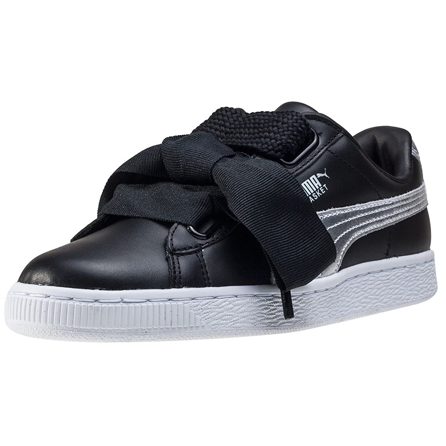 puma basket nere in pelle