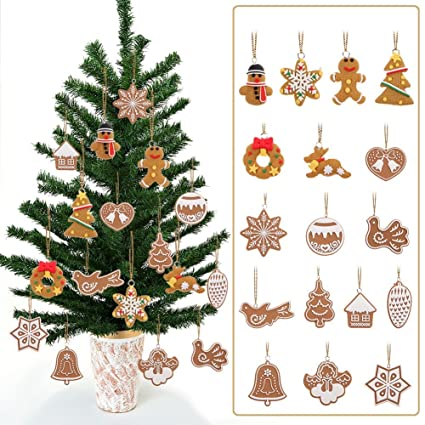 Polymer Clay Christmas Tree Decorations.Amazon Com Gsn 17pcs Lot Polymer Clay Deer Snowman Doll