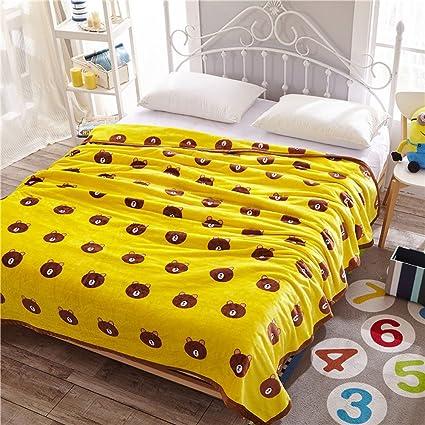 Amazon.com: NATURETY Cartoon Throw Blanket For Children,Kids Bed ...