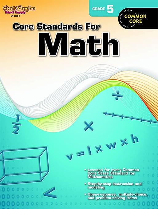 Core Standards for Math: Reproducible Grade 5: STECK-VAUGHN ...