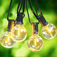 Svater Cadena de Bombillas,25Ft Cadena de Luz, G40 Guirnaldas Luminosas de Exterior y Interiores con 23 Globe LED…