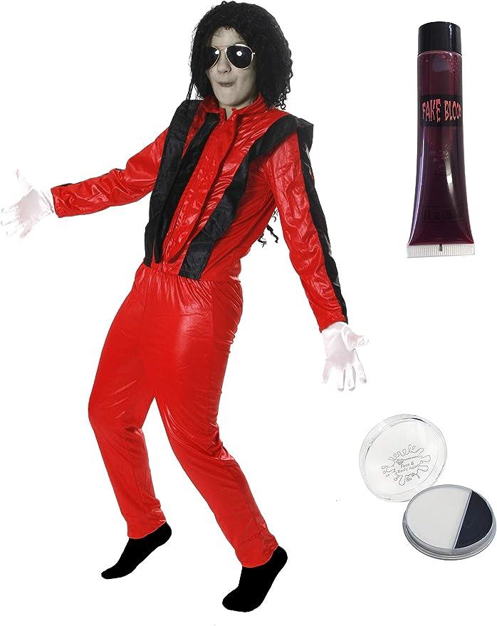 Disfraz de Michael Jackson en Thriller Para Niños: Amazon.es: Juguetes y juegos