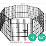 """2X i.Pet 30"""" 8 Panel Pet Dog Playpen Puppy Exercise Cage Fence Play Pen"""