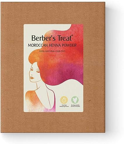 Tinte natural para el cabello en polvo de henna marroquí con guantes biodegradables 100g