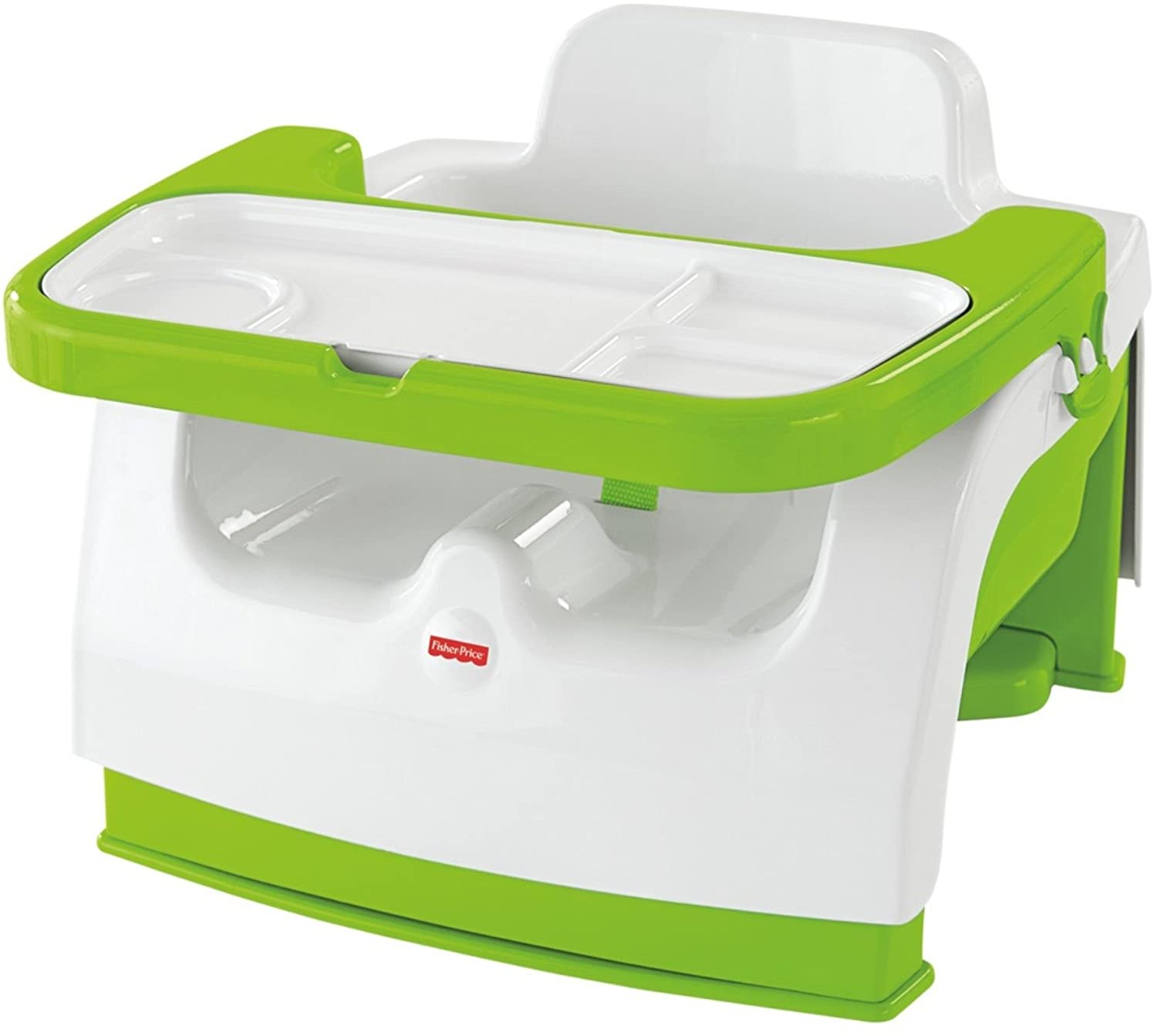 Fisher-Price Grow-with-Me Portable Booster Seat, Green/White CMH59