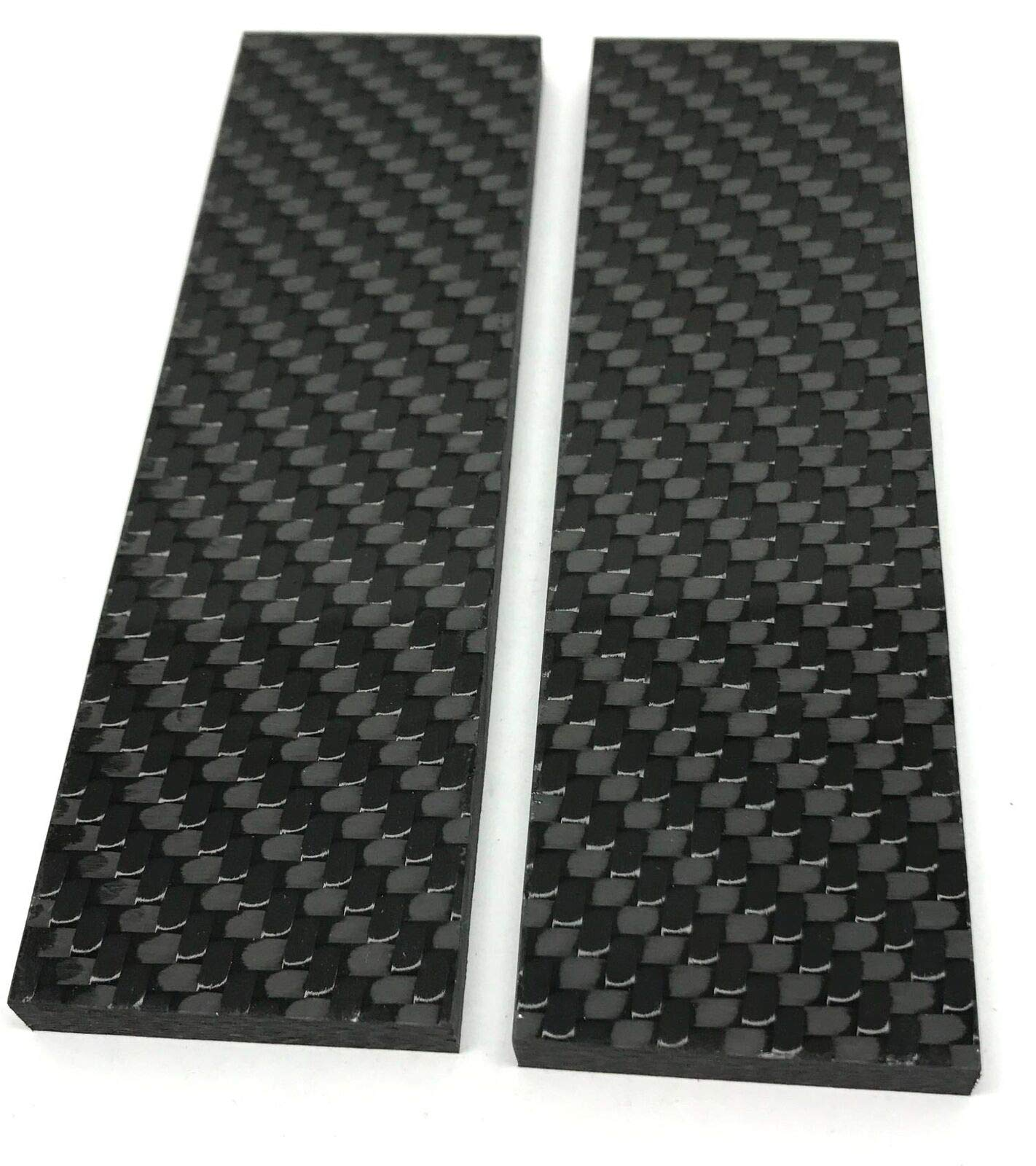 Solid Twill 2x2 Carbon Fiber 1/4'' x 1.5'' x 5'' CarbonWaves for Scales Knife