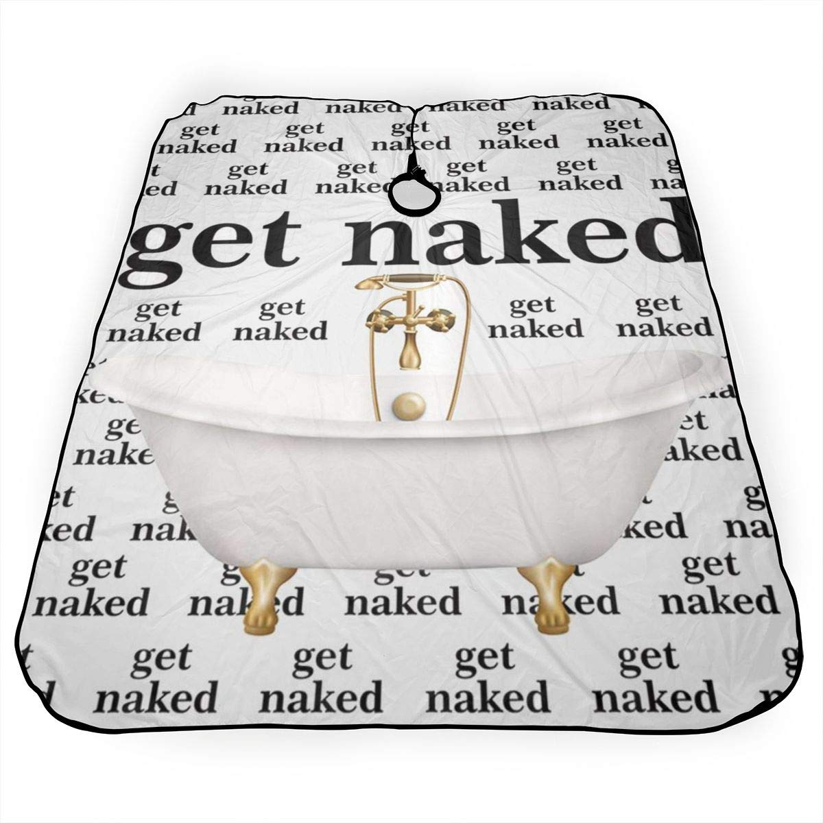 Amazon.com JinSPef Haircut Cape Get Naked Quote Words with