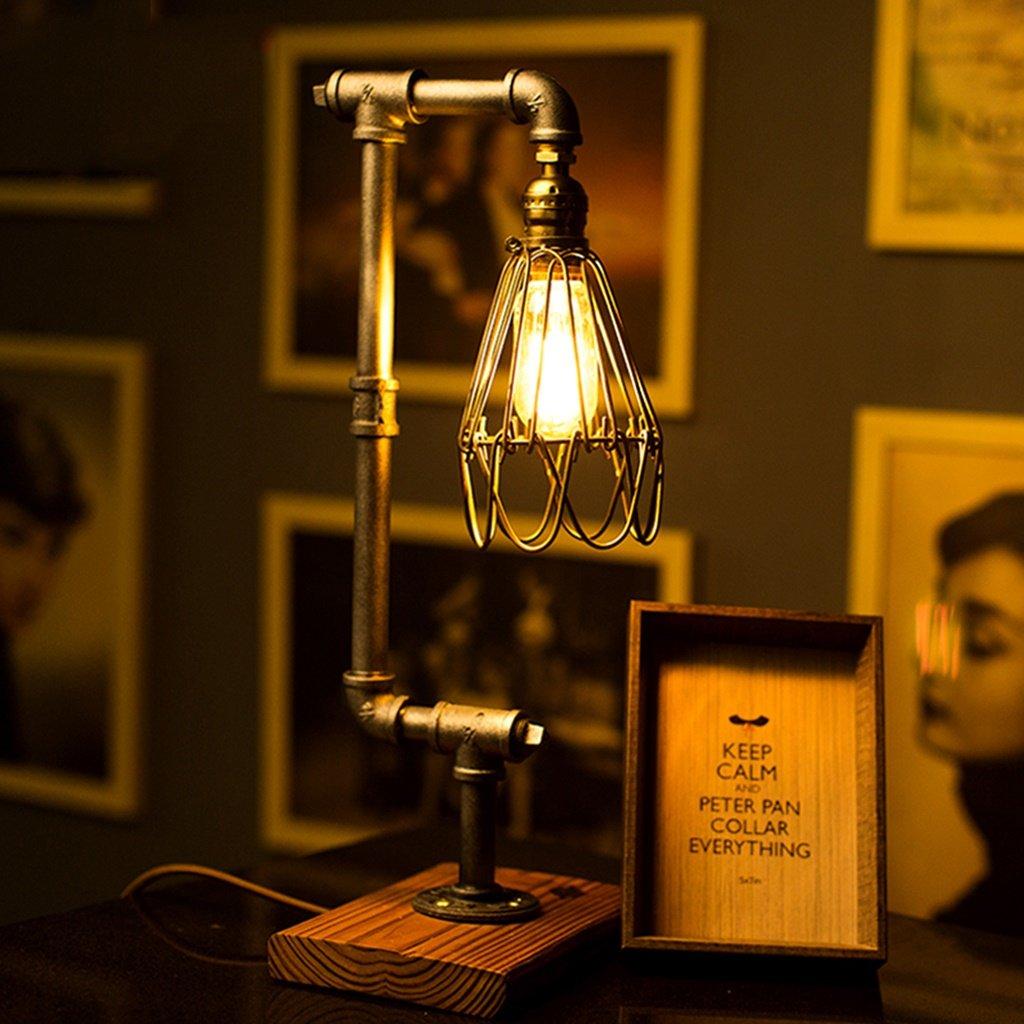 Good thing iluminación lo Bueno lámpara de Mesa Retro Lámparas de Mesa industriales Retro Mesa Personalizada Luces de Agua Café Decorativas lámparas Creativas fca623