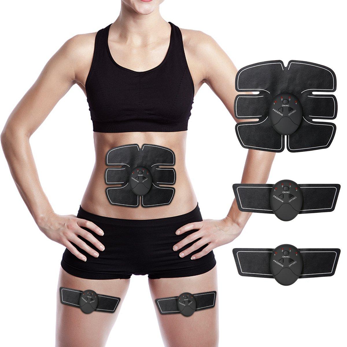 Electroestimulador Muscular Abdominales Charminer Masajeador Eléctrico Cinturón Ejercitador del Cuerpo de los