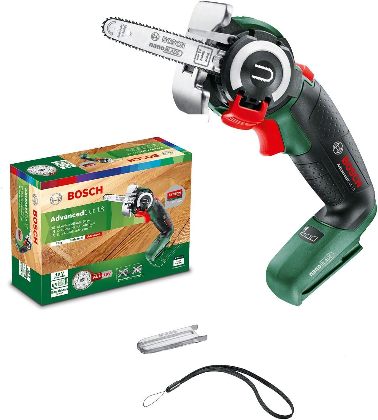 Bosch Advanced Cut 18 - Sierra de cadena 18V (sin batería ni cargador, incluye caja de cartón)