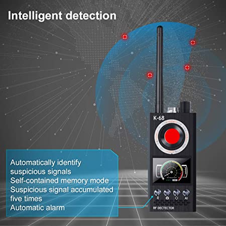 Amazon.com : Bug Detector, G-TING RF Anti-Spy Detector Wireless Scanner, Hidden Camera Finder Pinhole Laser Lens GSM Device Finder, Spy Finder for ...