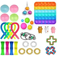 25 Pcs Fidget Toy Set, Fidget Toys Pack for Kids or Adults, Figetget Toys Pack Figit Toys, Anti-Anxiety Tools, Fidgeting…