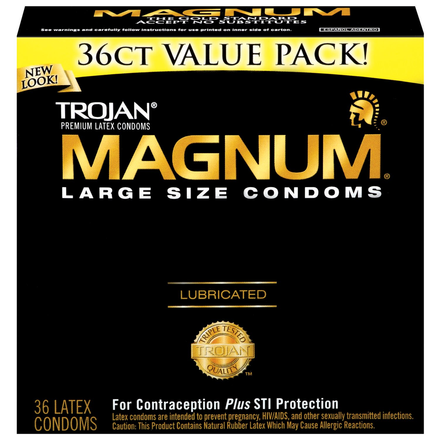 Trojan Magnum Condoms, Lubricated, Large, 36 Count by TROJAN