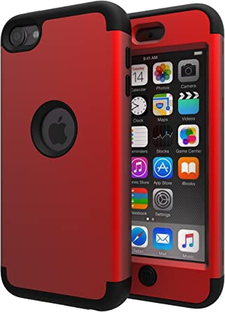 For Red Apple iPod Touch 5 Touch 6 Gen Shockproof Heavy  Protective Case Cover